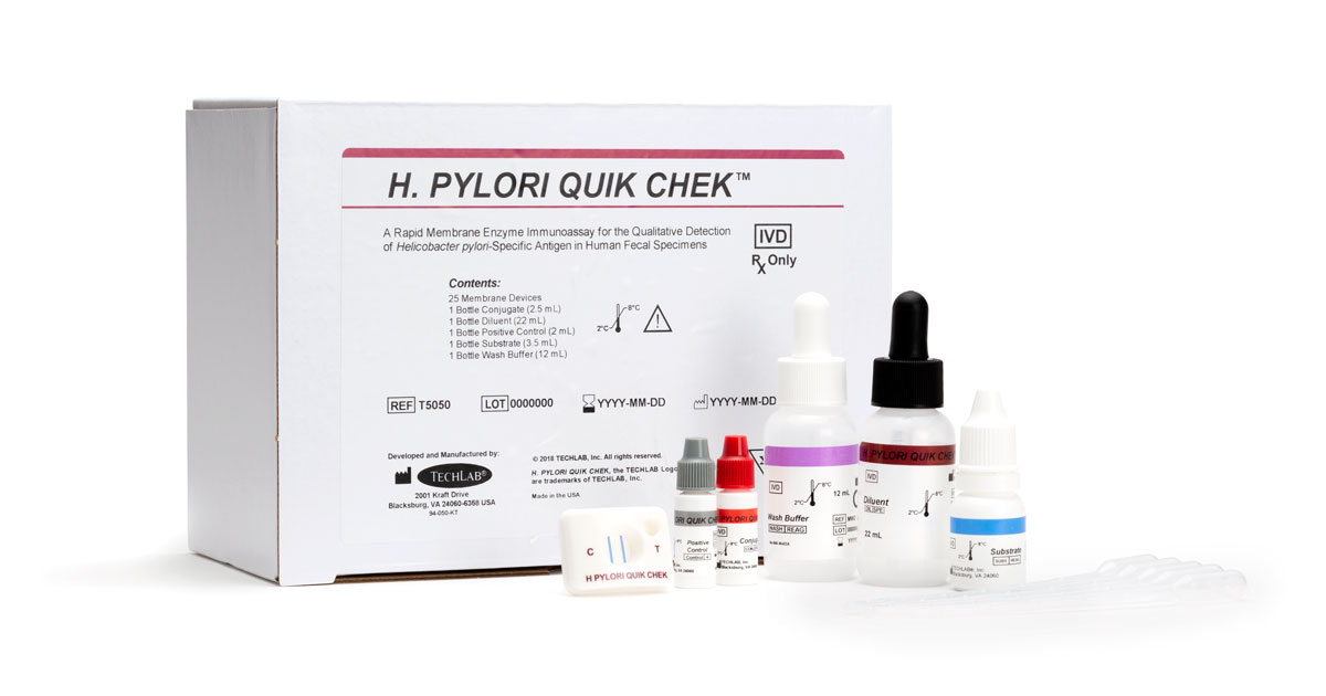 H Pylori QUIK CHEK and box